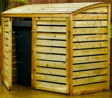Wheelie Bin Store 261 - Pressure Treated