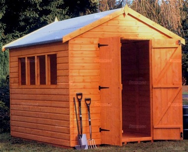 Shiplap Double Door Apex Shed 065 - Extra Tall Workshop
