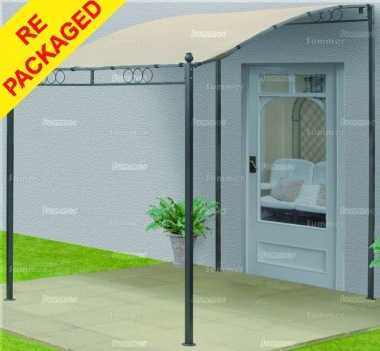 Repackaged Metal Gazebo 112 - Lean To Style